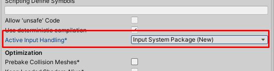 Simple input setup